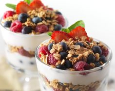 High Protein Parfait - Pure Plates  A generous serving of cinnamon blended cottage cheese and greek yogurt with a mix of seasonal fruit and crushed flax seed.