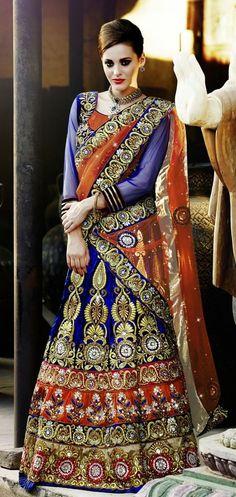Party Style Heavy Work Traditional Lehenga Choli Wedding Bridal Wear Ethnic 6305 #Branded #ThriveFrillBridalLehengaCholi