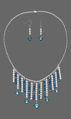Jewelry Design - Single-Strand Necklace and Earring Set with Swarovski® Crystals - Fire Mountain Gems and Beads