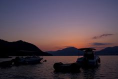 宮島の海から夕焼け
