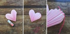 How to DIY Folded Heart Garland