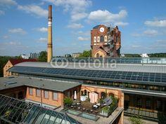 Dachterrasse auf dem ehemaligen Schlachthofgebäude in Offenbach am Main in Hessen