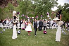 This Colorado wedding is a Tim-Burton-flavored carnival