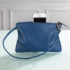 """And I like this as another option for when the big bag is too much, but the """"cute"""" purse isn't enough. Tuck in the important stuff when on a trip--ID, cash, cards--and don't worry about the hotel room being robbed. St. Tropez Leather Pouch"""