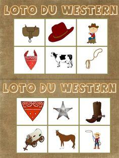 cette année nous partons dans l'ouest américain, voici donc mon premier jeu sur ce thème un loto autour des cowboys: loto western ( attention fichier très lourd donc mis en compressé)