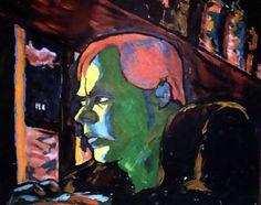 """I am a World Champion"", 1977. (A Soulful Art Legacy: 25 David Bowie Paintings)"