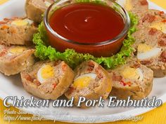 Chicken and pork embutido is a combination of ground pork and ground chicken meat and made into a meatloaf. The original embutido use only pork but this one has Healthy Soup Recipes, Pork Recipes, Gourmet Recipes, Chicken Pork Recipe, How To Cook Chicken, Pork Embutido Recipe, Healthy Vegetables, Pork Dishes, Easy Cooking