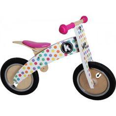 bicicleta de madera para niñas sin pedales kiddimoto en la juguetería online El País de los Juguetes