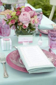 Table setting via The Enchanted Home