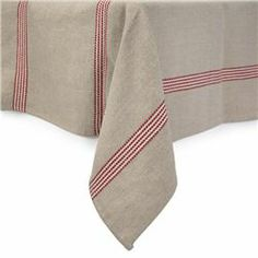 Saint Malo Table Linen Collection in Red | Sur la Table