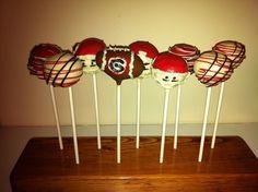 Football Cakepops! Go Dawgs!