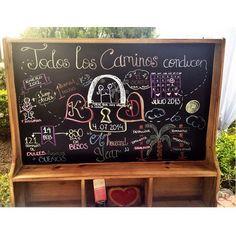 K D  #wedding #boda #decoracion #vintage #love #amor #photooftheday #flores #flowers #crafts #decolores #caracas #novia #bride #wishtree #picoftheday #venezuela #instabride  #hechoamano #creativo #instalove #instagood #instamood #centrosdemesa #centerpieces #sign #chalkboard #pizarra #message #Padgram