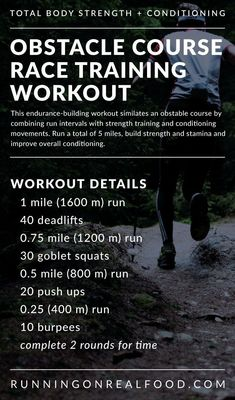 Tough Mudder Training Workout via @runonrealfood For More Health And Fitness Tips Visit Our Website #Racetraining