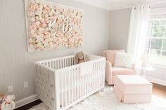 That floral nursery wall piece Toddler Bed, Nursery, Furniture, Home Decor, Cribs, Homemade Home Decor, Cots, Day Care, Baby Beds