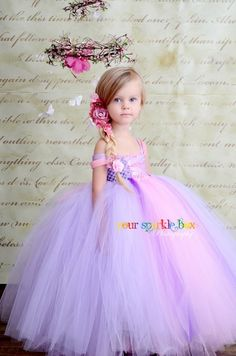 <3 <3 beautiful pink & purple flower girl dress <3