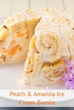 Peach & Amarula Ice Cream Bombe recipe. We've added a South African twist to this easy to make ice cream cake. The light kiss of Amarula liqueur adds a touch of delicious dessert decadence.