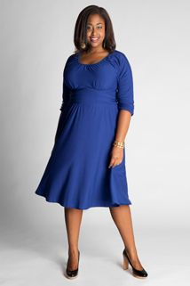 Sofia Dress in Rubyeliza Parker. Banded empire dress to draw attention away from tummy.