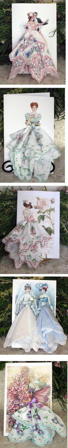 Great idea for card - with  pretty handkerchief! :)