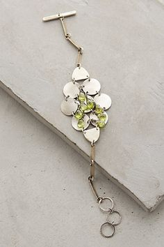 Peridot Links Bracelet - anthropologie.com #anthrofave