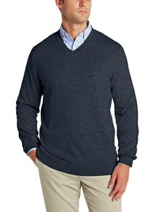 c07fe9f6f65c Industries Needs — Nautica Men s V Neck Pullover Sweater Machine... Mens  Red Sweater
