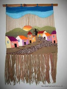 Pin Weaving, Weaving For Kids, Tablet Weaving, Weaving Art, Loom Weaving, Tapestry Weaving, Tapestry Wall, Hanging Tapestry, Wool Wall Hanging