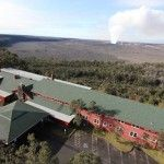 Namakanipaio Cabins at the historic Volcano House Hotel within the Hawaii Volcanoes National Park on the Big Island for $55/night