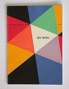 Max Bill  Die Farbe, Exhibition catalogue cover, 1944