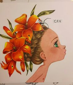 Coloriage wild 2 emmanuelle colin colored with faber castell polychromos