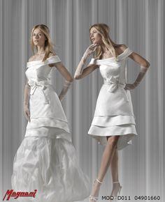 Italian wedding dual dress by Magnani