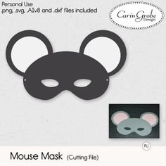 Mouse Mask (Cutting Files) #theStudio #CarinGrobeDesign