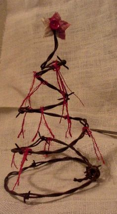 Barbed Wire Tree Form Decor Western Rustic by ITSYOURCOUNTRY, $14.99