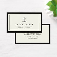 Attorney Legal Lawyer Black Scale Professional Business Card Custom Legal Branding Office Products and Gifts #legal #lawyer #solicitor #law