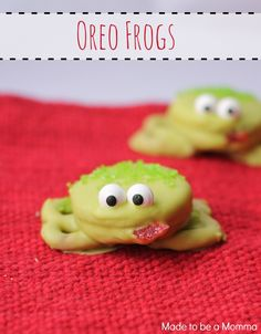Oreo frogs are the perfect kids treat and only require a few ingredients!