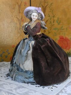 ~~~ Rare all Original Antique Half Doll by Dressel & Kister ~~~