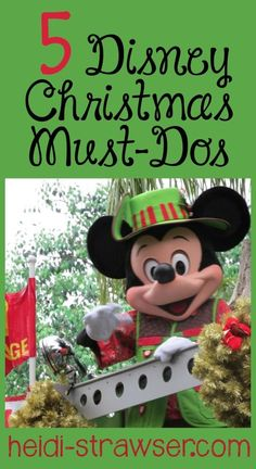 Things to do at Disney World if you're visiting during the holiday season.