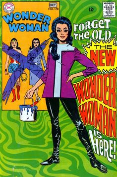 When DC comics revamped Wonder Woman in 1967, because Denny O'Neal and Mike Sekowsky loved the British TV series the Avengers. WW aka Diana Prince became more like Diana Rigg aka Emma Peel.