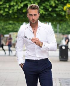 This casual look is great for summer days! #men #fashion #style