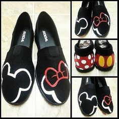 Hey, I found this really awesome Etsy listing at https://www.etsy.com/listing/212631325/mickeyminnie-shoes