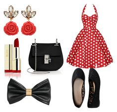"""mini mouse"" by johanne-jc on Polyvore featuring Aéropostale, H&M and Chloé"