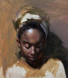 """""""Portrait painting in progress"""" by Fongwei Liu"""