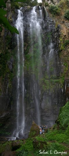 """Cascada en Finca """"El paraíso"""" en Jalapa, Guatemala."""