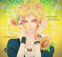 Tags: Sunflower, Lemon, Yellow Flower, Ibuki (mangaka), Tutiya Masaki