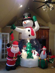 Gemmy Prototype Christmas Snowman Snowglobe Inflatable Airblown | eBay