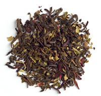 Organic Blood Orange Pu'erh - Davids Tea. Delish with almond frothed almond milk served cold!