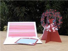 Valentine sliceform snowglobe. Valentine's Day Paper Crafts, Sliceform, Valentines Day, Valentine Cards, Pop Up Cards, Kirigami, Stamping Up, Snow Globes, Templates