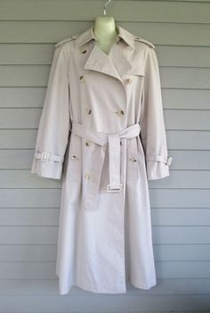 Khaki trench coats were popular