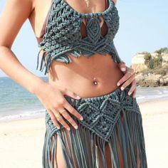 Macrame Dress, Macrame Cord, Macrame Knots, Boho Dress, Macrame Design, Macrame Patterns, Handmade Dresses, Crochet Fashion, Crochet Designs