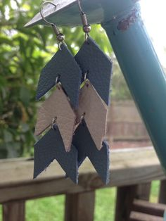 A personal favorite from my Etsy shop-- chevron and diy is my happy place. https://www.etsy.com/listing/229553932/handmade-leather-chevron-earrings