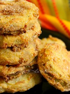 The BEST Fried Green Tomatoes with Garlic, Bacon and Buttermilk Sauce - la bella vita cucina