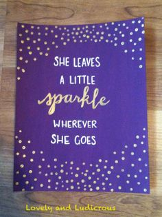 Quote Canvas Painting- Various Quotes www.etsy.com/shop/LovelyandLudicrous